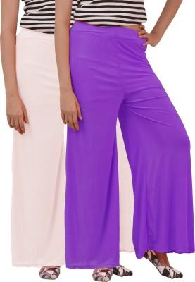 Ace Regular Fit Women's Purple, White Trousers