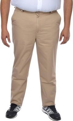 ASABA Regular Fit Men's Beige Trousers