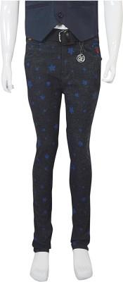 Puppet Nx Slim Fit Boy's Black, Blue Trousers