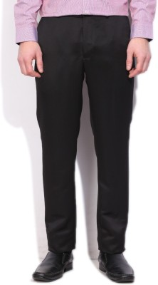 V Dot by Van Heusen Slim Fit Mens Black Trousers