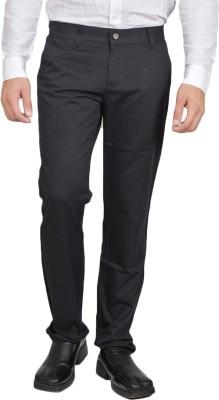Allen Martin Regular Fit Men's Blue Trousers