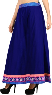 VASTRAA FUSION Regular Fit Women's Blue Trousers