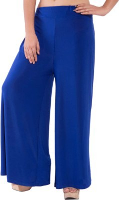 FRONEX INDIA Slim Fit Women's Blue Trousers