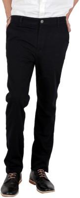 Wood Slim Fit Men's Linen Dark Blue Trousers