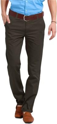 Perfect Regular Fit Men's Brown Trousers