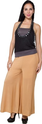 G&Z Collections Regular Fit Women's Beige Trousers