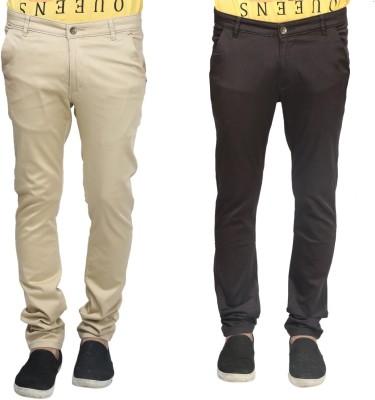Trendy Trotters Regular Fit Men's Brown, Beige Trousers