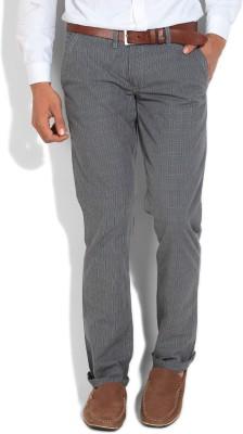 John Players Slim Fit Men's Blue, Grey Trousers