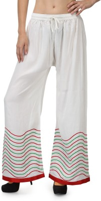 Akshiti Regular Fit Womens White, Green Trousers