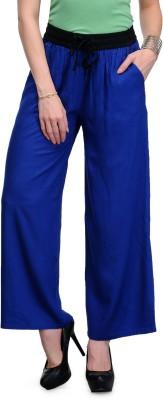 Samayra Regular Fit Women's Blue Trousers