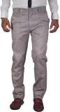 FBM Slim Fit Men's Grey Trousers