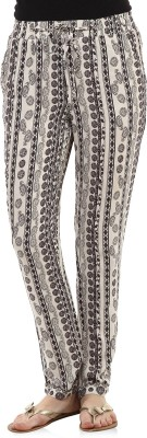 Oxolloxo Regular Fit Women,s Black Trousers