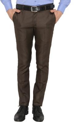Donear NXG Slim Fit Men's Brown Trousers