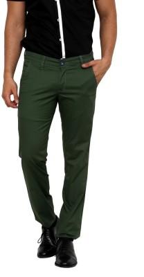 Zaab Slim Fit Men,s Green Trousers