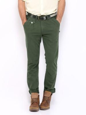 HRX by Hrithik Roshan Regular Fit Men's Green Trousers