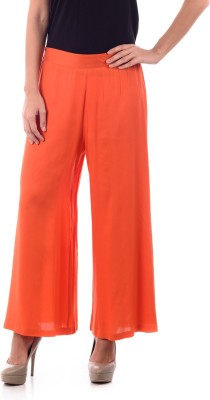 House of Tantrums Regular Fit Women,s Orange Trousers
