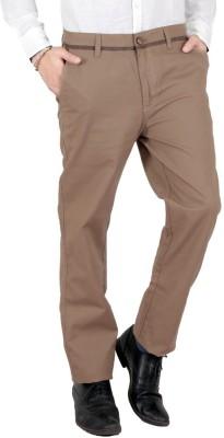 Wood Slim Fit Men's Linen Beige Trousers