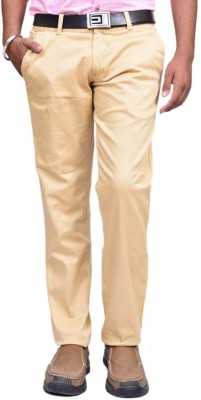 British Terminal Slim Fit Mens Cream Trousers