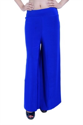 Ajaero Regular Fit Women's Blue Trousers