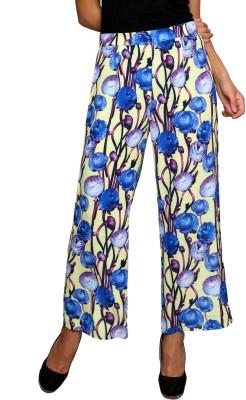 Dhavani Regular Fit Women's Blue Trousers