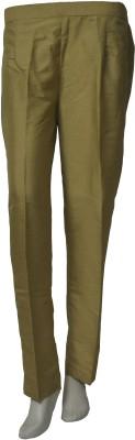 La Vastraa Regular Fit Women's Gold Trousers
