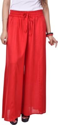 Artisan Creation Regular Fit Women's Red Trousers