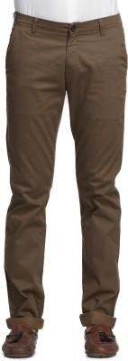 Beevee Regular Fit Men,s Brown Trousers