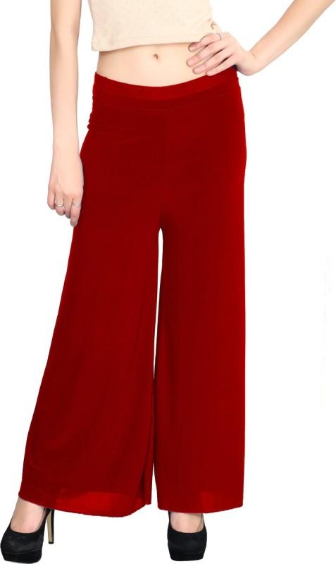 Elvin Regular Fit Women's Red Trousers