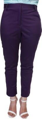 Tryfa Regular Fit Women's Purple Trousers