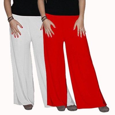 Ace Regular Fit Women's Red, White Trousers