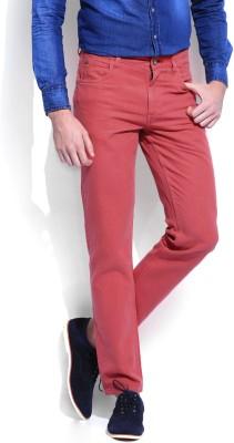 Harvard Slim Fit Men,s Red Trousers