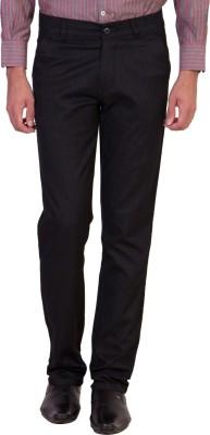 Maciej Slim Fit Men's Black Trousers