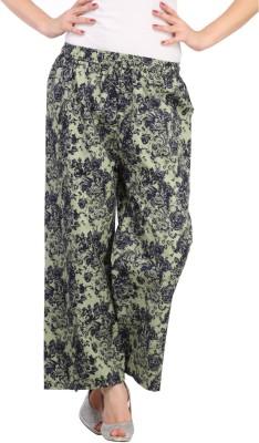 Aksara Regular Fit Women's Green Trousers