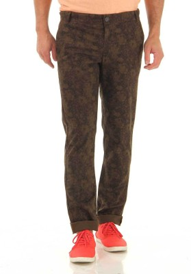 Jack & Jones Slim Fit Men's Brown Trousers