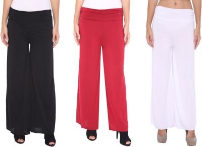 Zadine Regular Fit Women,s Black, Red, White Trousers