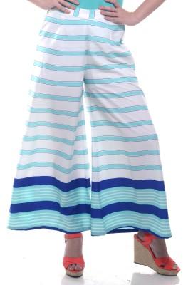 Lyla Regular Fit Women's White Trousers