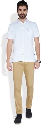 Parx Slim Fit Men's Beige Trousers