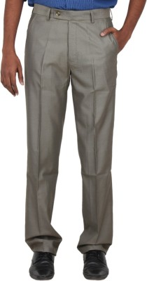 Warp & Weft Slim Fit Men's Beige Trousers