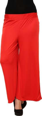 Limeberry Regular Fit Women's Red Trousers