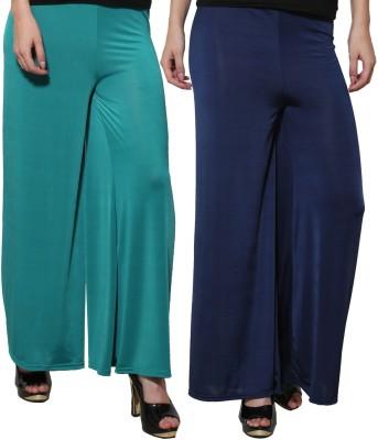 Both11 Regular Fit Women's Dark Blue, Green Trousers