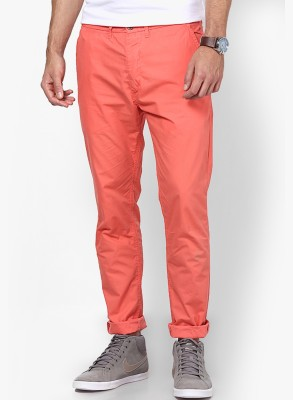 Jack & Jones Slim Fit Men's Pink Trousers
