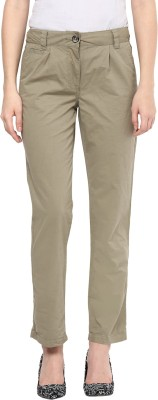 Hapuka Regular Fit Women's Green Trousers
