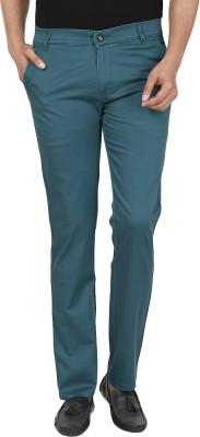 Own Voice Regular Fit Men's Blue Trousers
