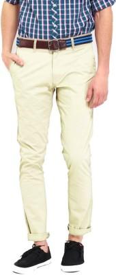Good Karma Regular Fit Men's Beige Trousers