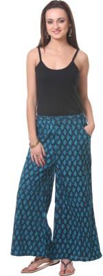 Oghaindia Regular Fit Women's Blue, Green Trousers