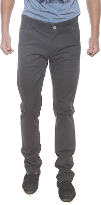 Spykar Slim Fit Men's Black Trousers