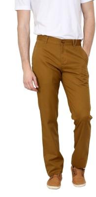 Cotton County Premium Slim Fit Men's Orange Trousers