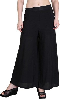 Black Regular Fit Girls Black Trousers