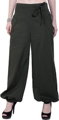 Tuntuk Regular Fit Women's Green Trousers