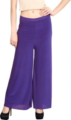 ELVIN Regular Fit Women's Purple Trousers